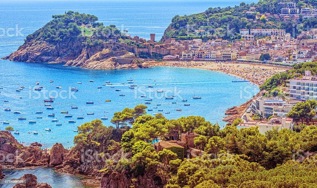 Summer at Tossa del Mar stock photo