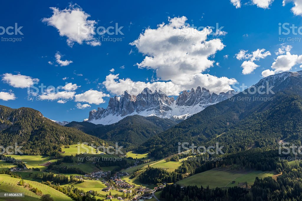 Summer at Villnöss with geisler group, Alps - southtirol stock photo