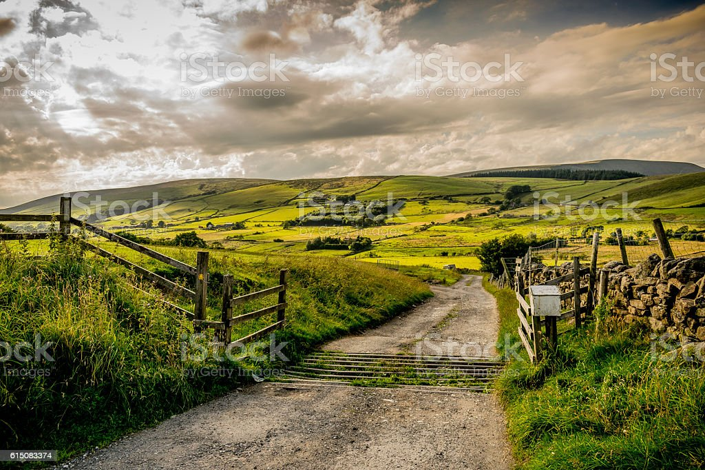 Summer at West Pennines Moors stock photo