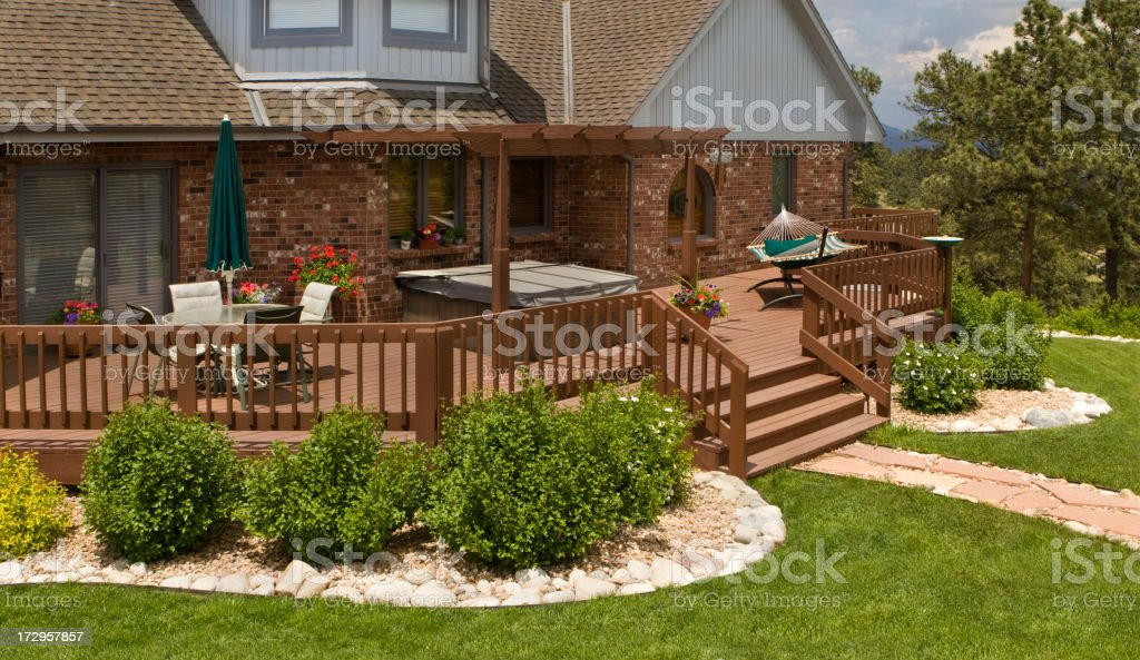 Summer Backyard Living stock photo