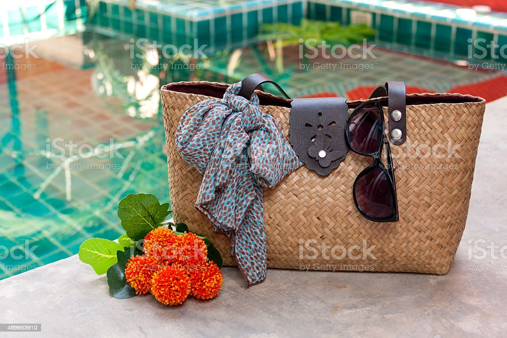 Summer bag concept royalty-free stock photo