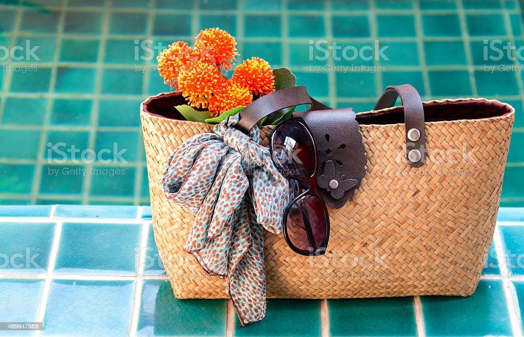 Summer bag royalty-free stock photo
