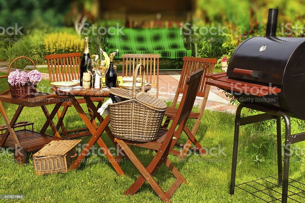 Summer BBQ Party or Picnic stock photo