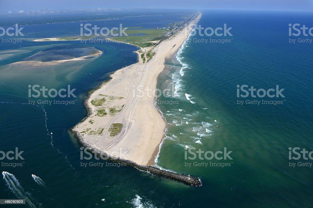 Summer Beach Aerial View stock photo