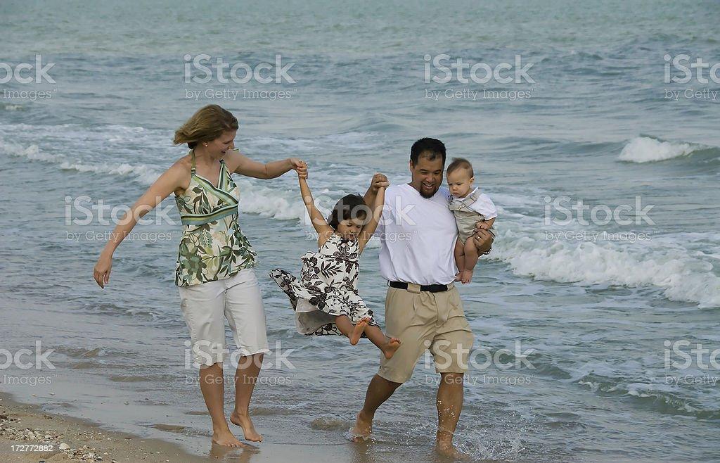 Summer Beach Family Vacation royalty-free stock photo
