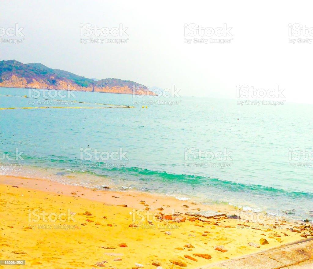 Summer Beach in Changzhou, Hong Kong. stock photo