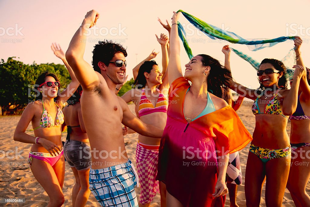 Summer Beach Party royalty-free stock photo