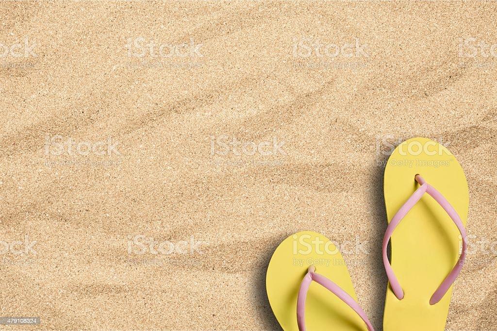 Summer, Beach, Sand stock photo