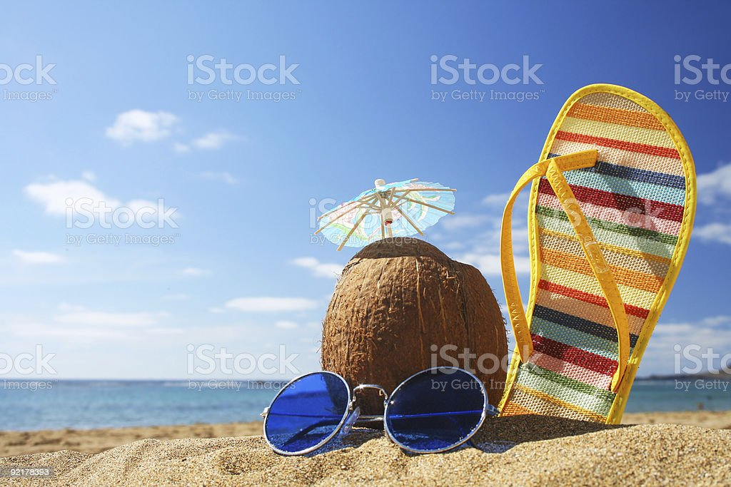 Summer Beach Scene royalty-free stock photo