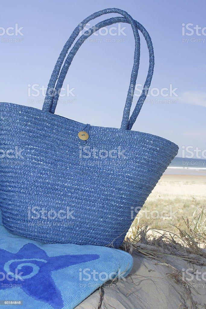 summer beach scene royalty-free stock photo