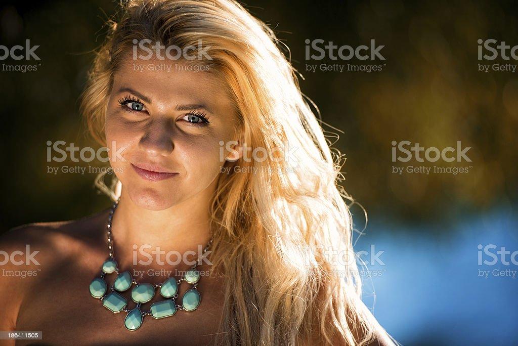 Summer Beautiful Portrait In Soft Sunlight royalty-free stock photo