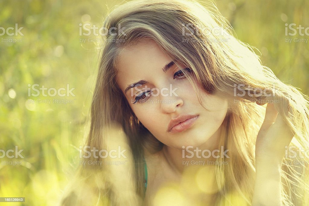 summer beauty royalty-free stock photo