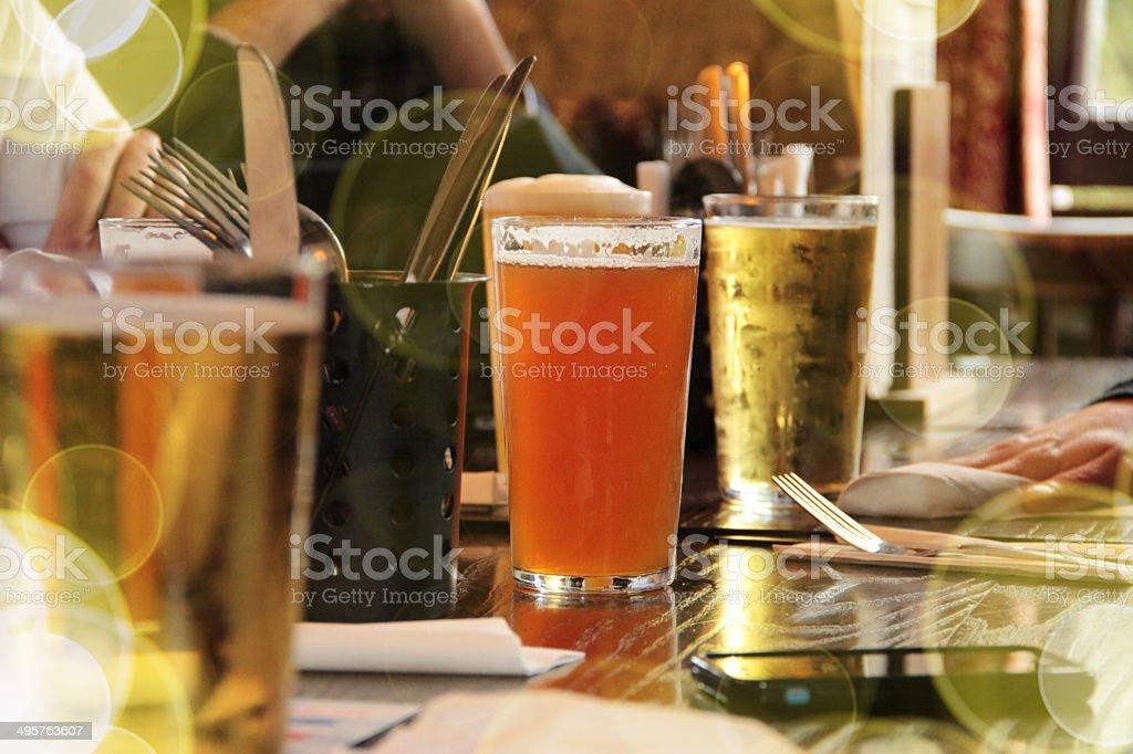 Summer Beer in London stock photo