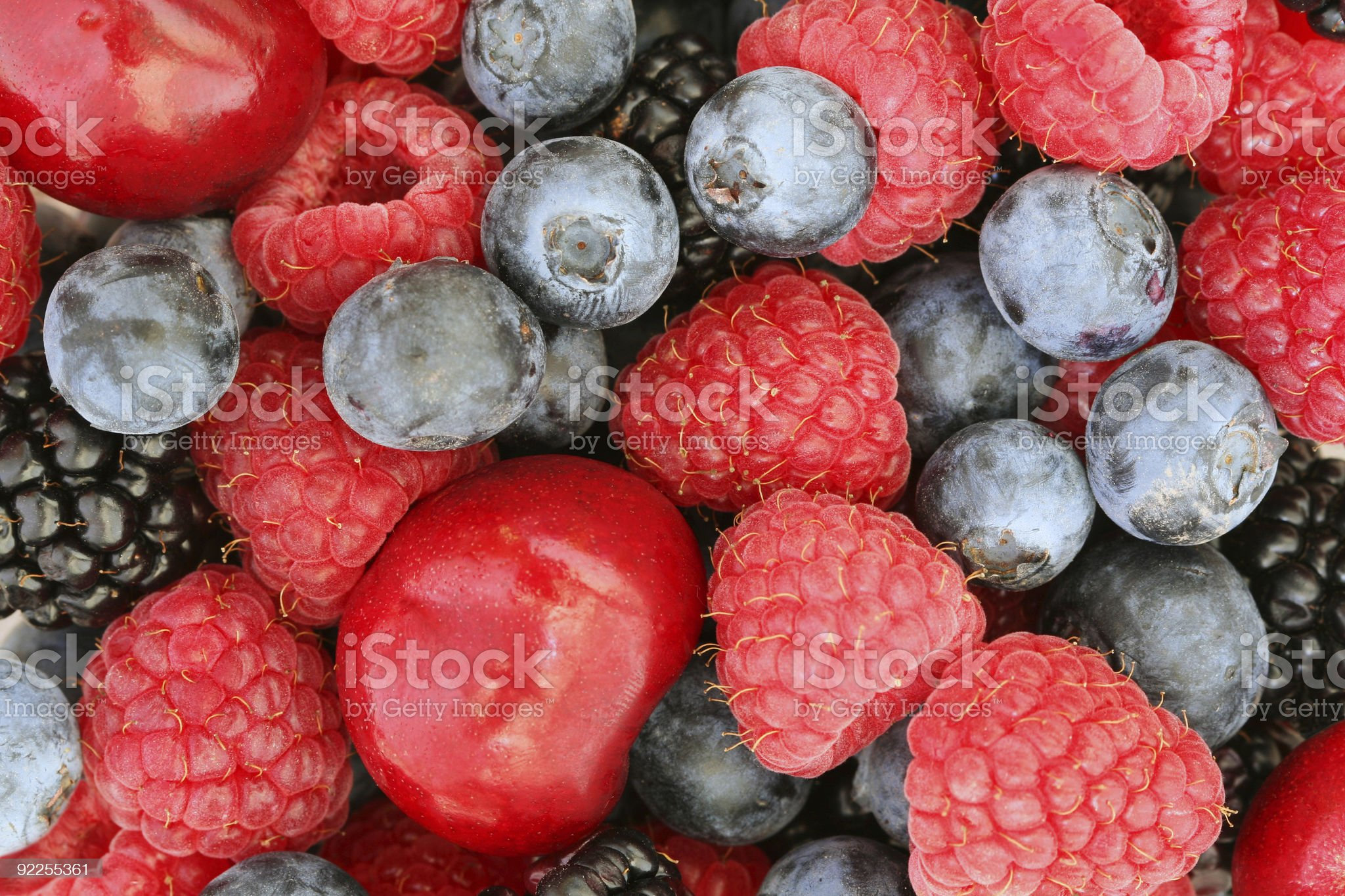 Summer berries background royalty-free stock photo