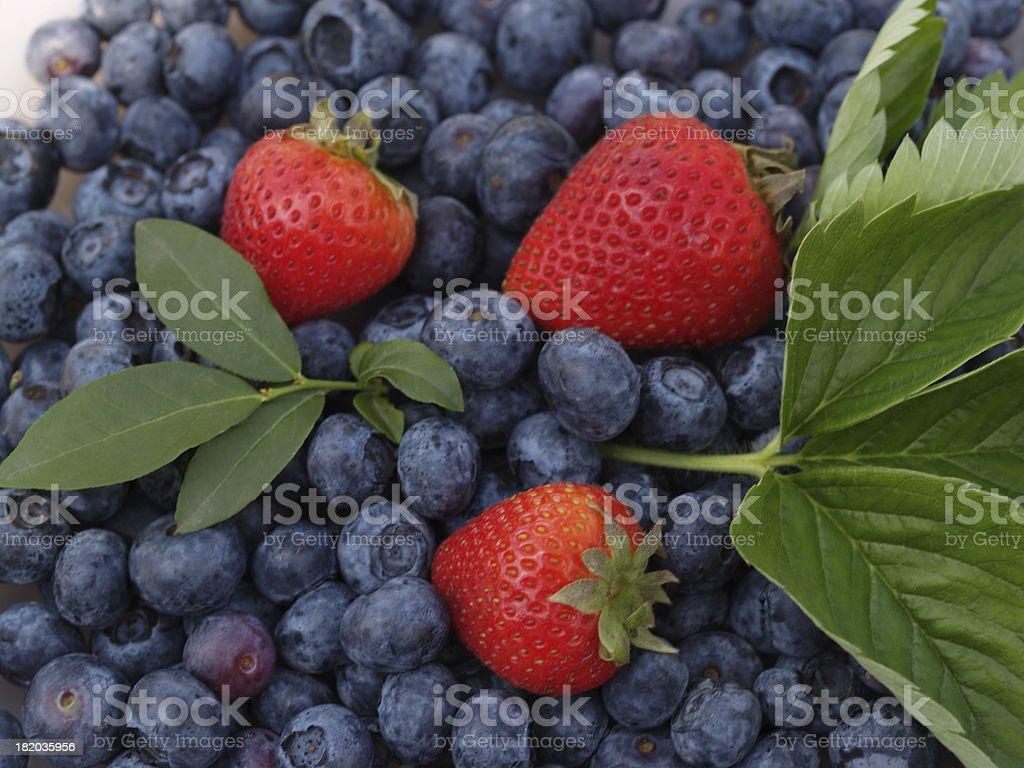 Summer berries, blueberries, strawberries royalty-free stock photo