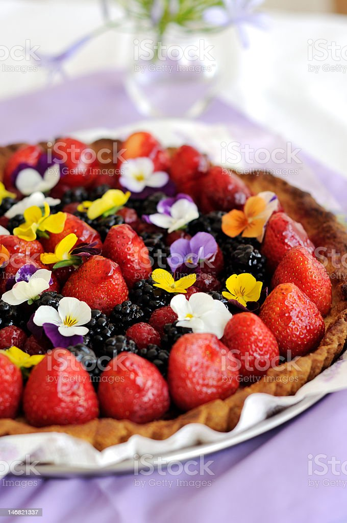 Summer  Berry Tart stock photo