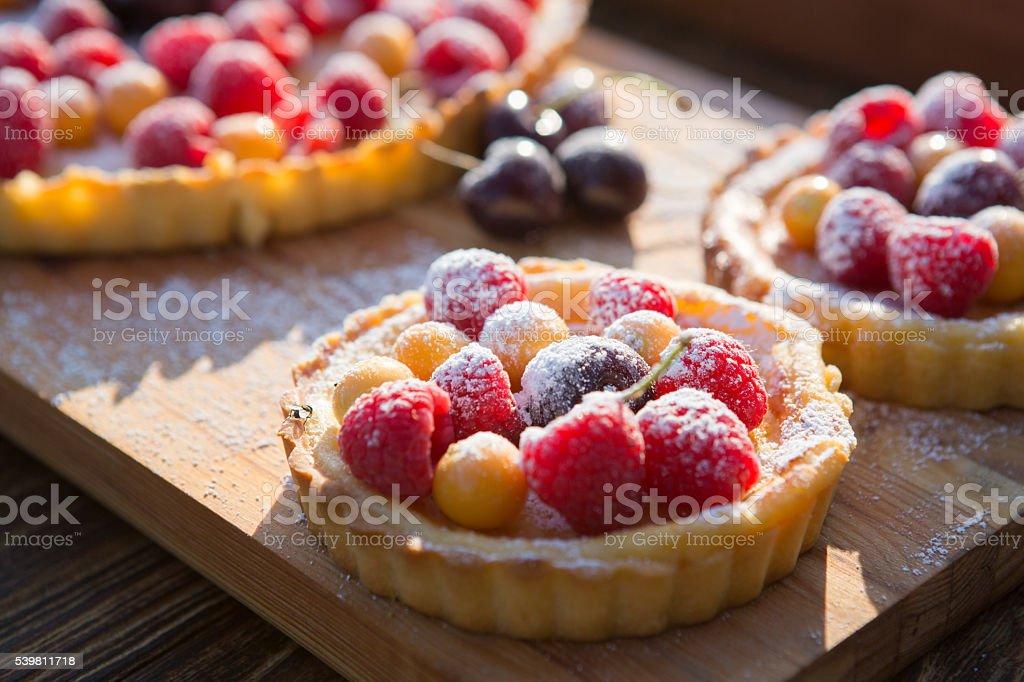 Summer Berry Tartlets stock photo