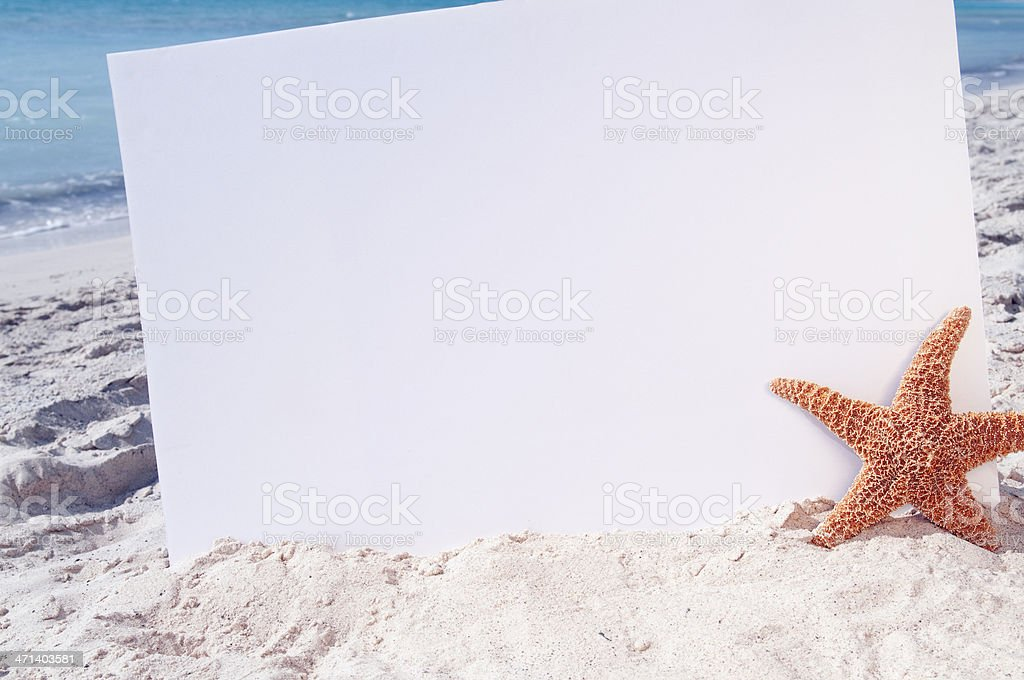 Summer Billboard at the Beach royalty-free stock photo
