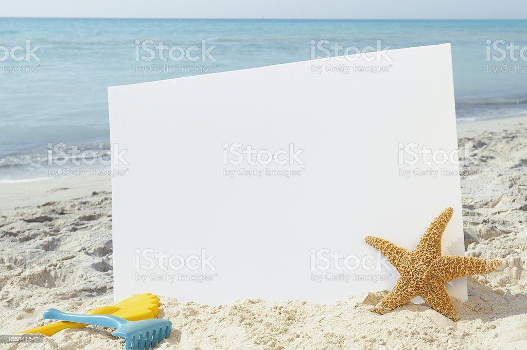 Summer Billboard W Starfish.Copy Space royalty-free stock photo