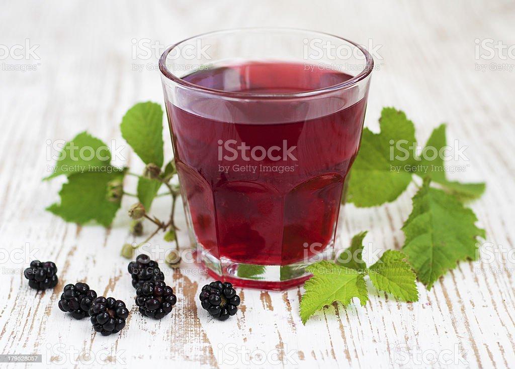 Summer blackberry  drink royalty-free stock photo