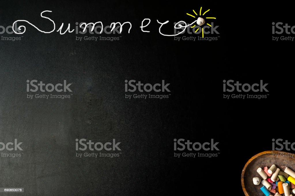 Summer blackboard card stock photo
