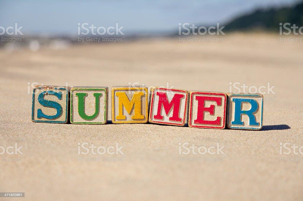 Summer Blocks stock photo