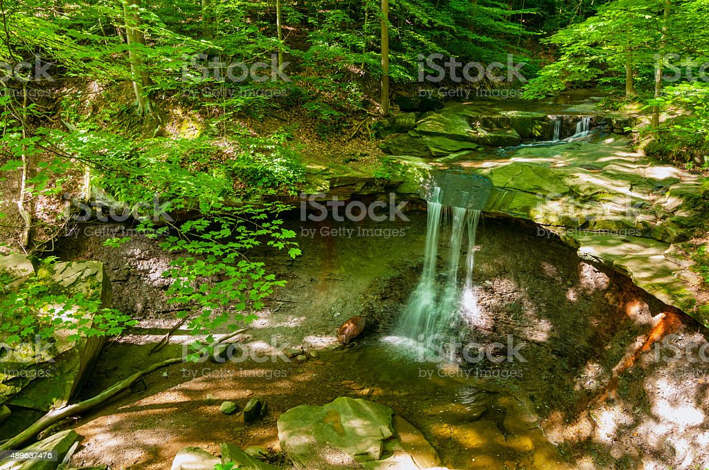 Summer Blue Hen Falls stock photo