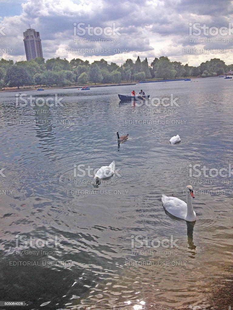 summer boating stock photo