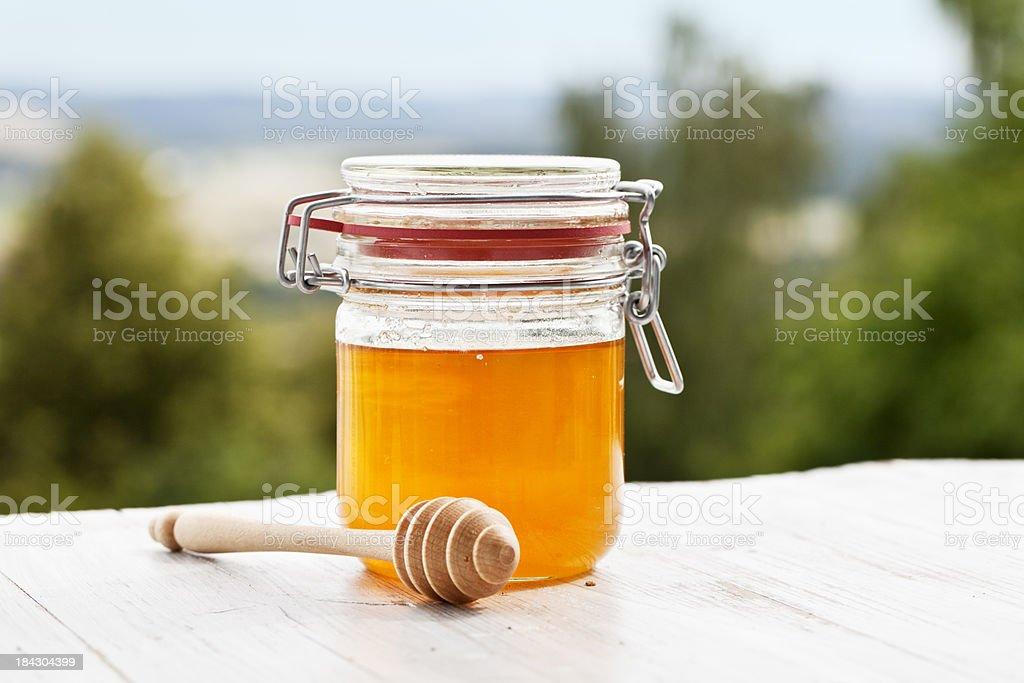summer breakfast ingredient honey stock photo