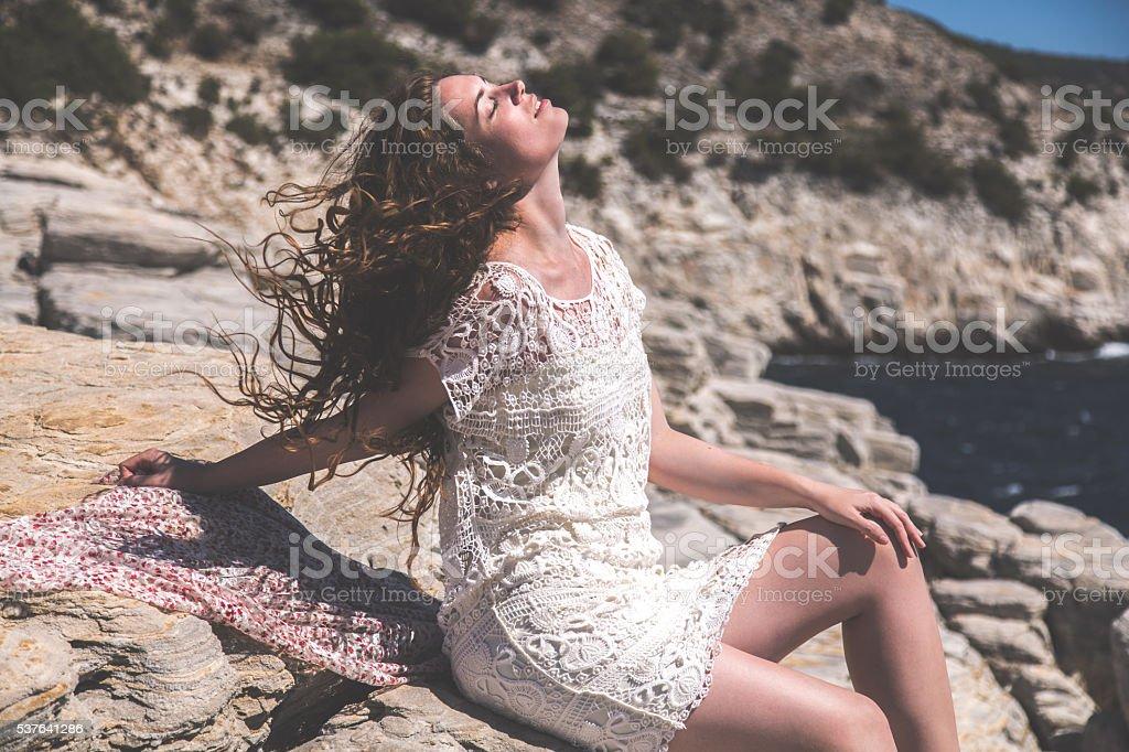 Summer Breeze Through My Hair stock photo