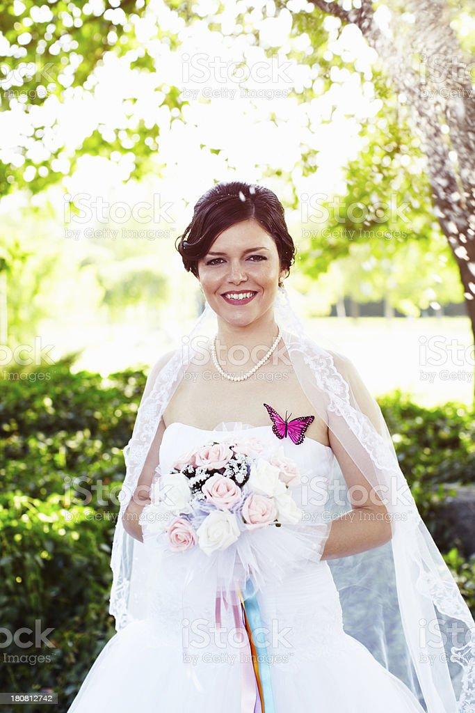 Summer bride royalty-free stock photo