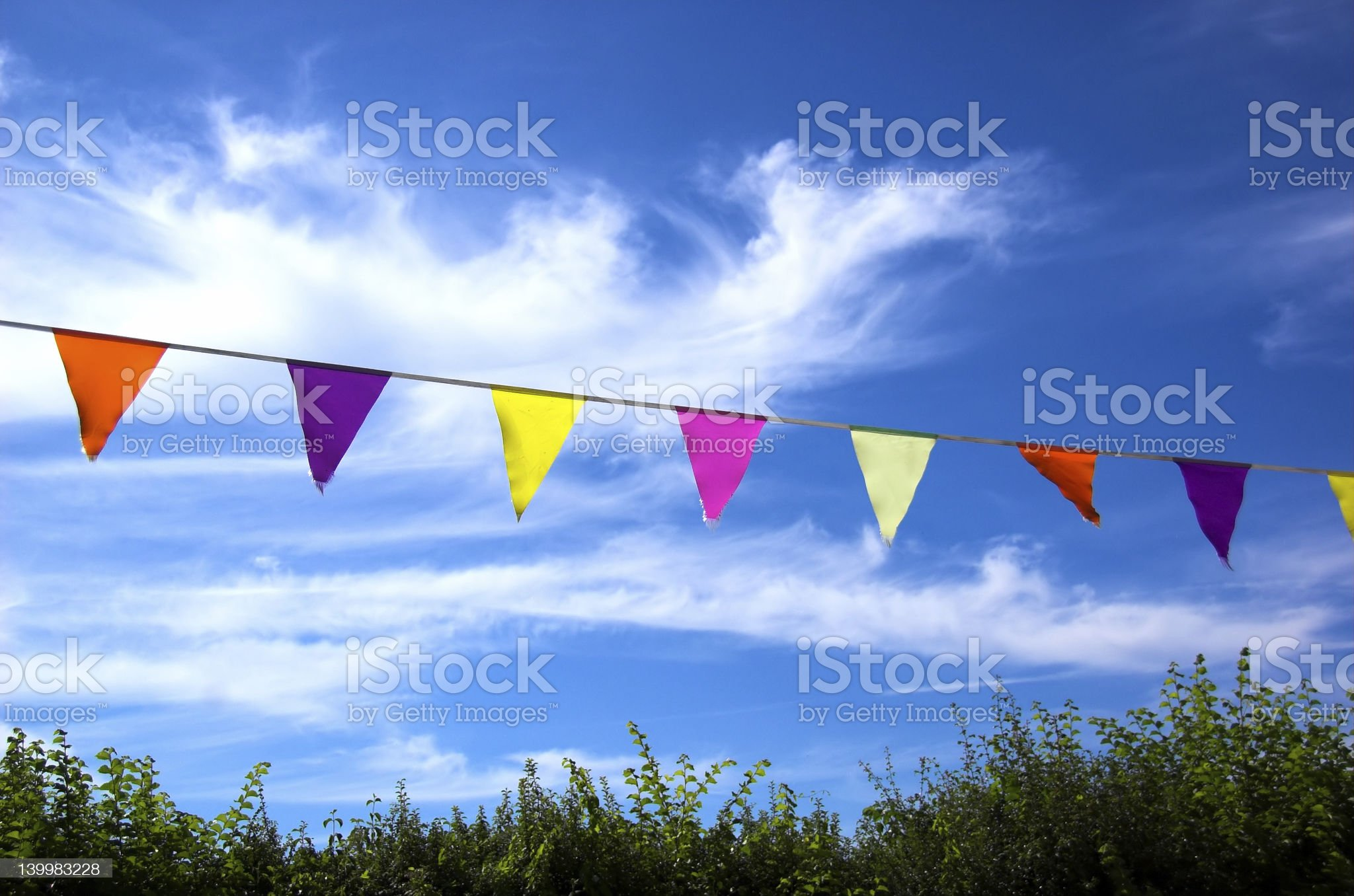 Summer Bunting royalty-free stock photo