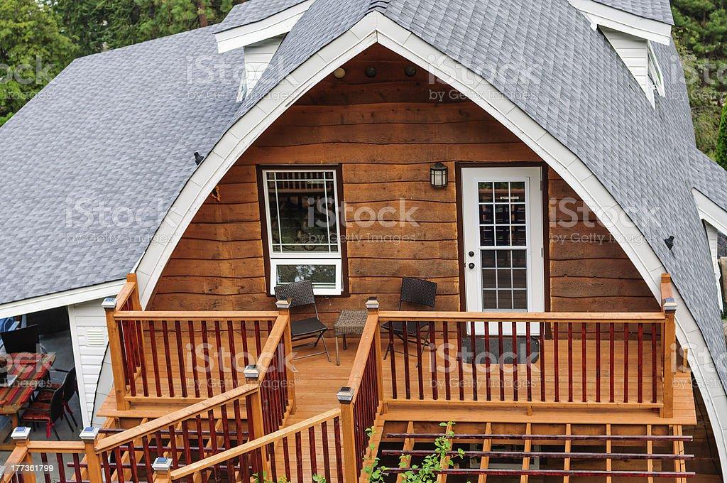 Summer cabin stock photo