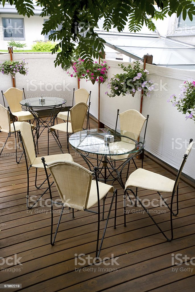 Summer cafe terrace royalty-free stock photo