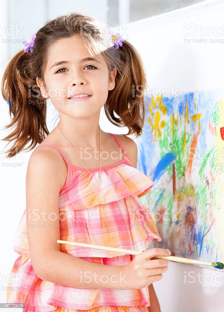 Summer camp activity stock photo