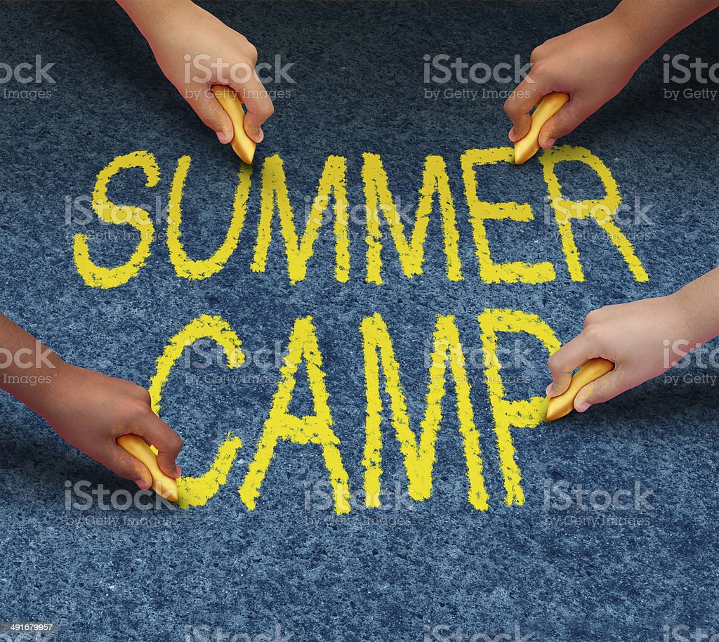 Summer Camp stock photo
