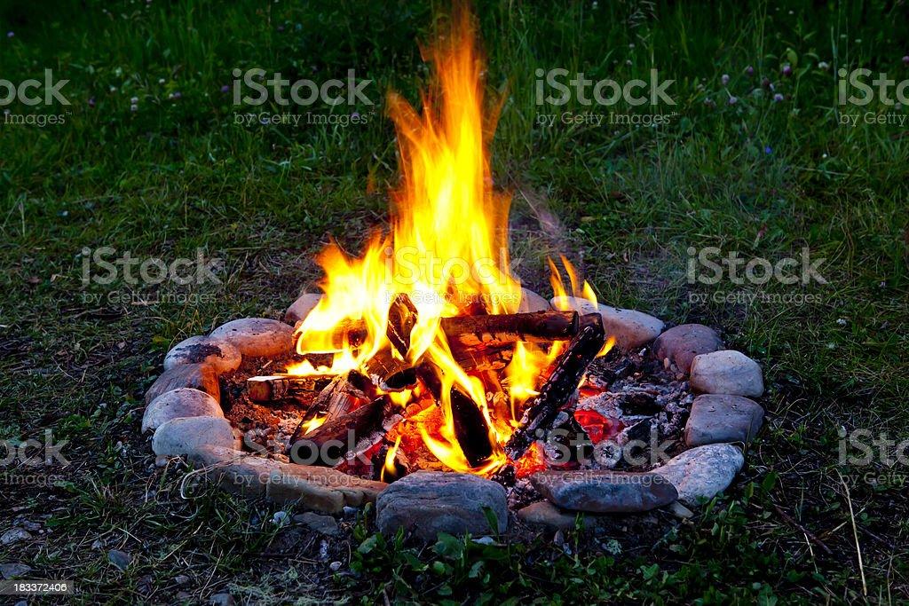 Summer Campfire royalty-free stock photo