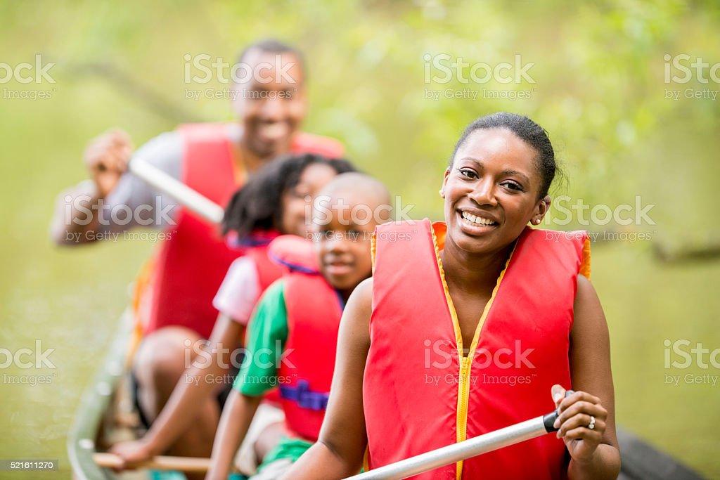 Summer Canoe Trip stock photo