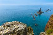 summer, cape of Hokkaido, North blue sea