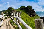 summer, cape path of Hokkaido, North blue sea