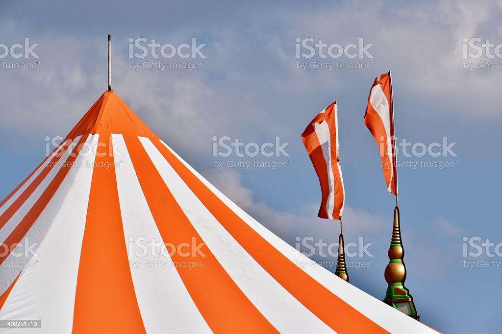 Summer Carnival - Circus Tents and Flags stock photo