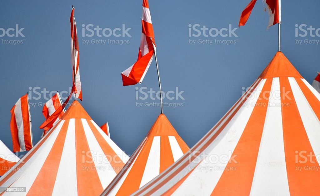 Summer Carnival - Circus Tents stock photo