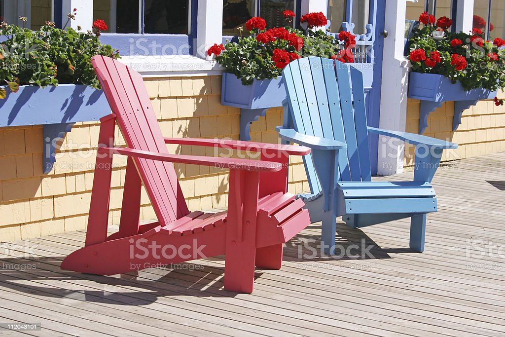 Summer Chairs stock photo