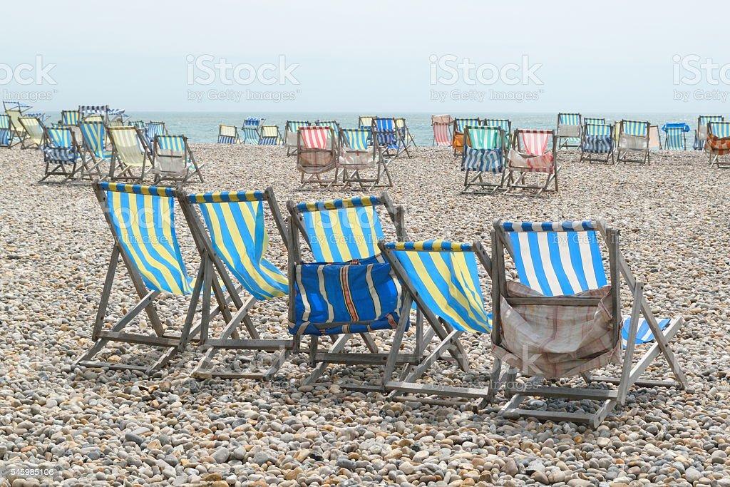 Summer chairs stock photo
