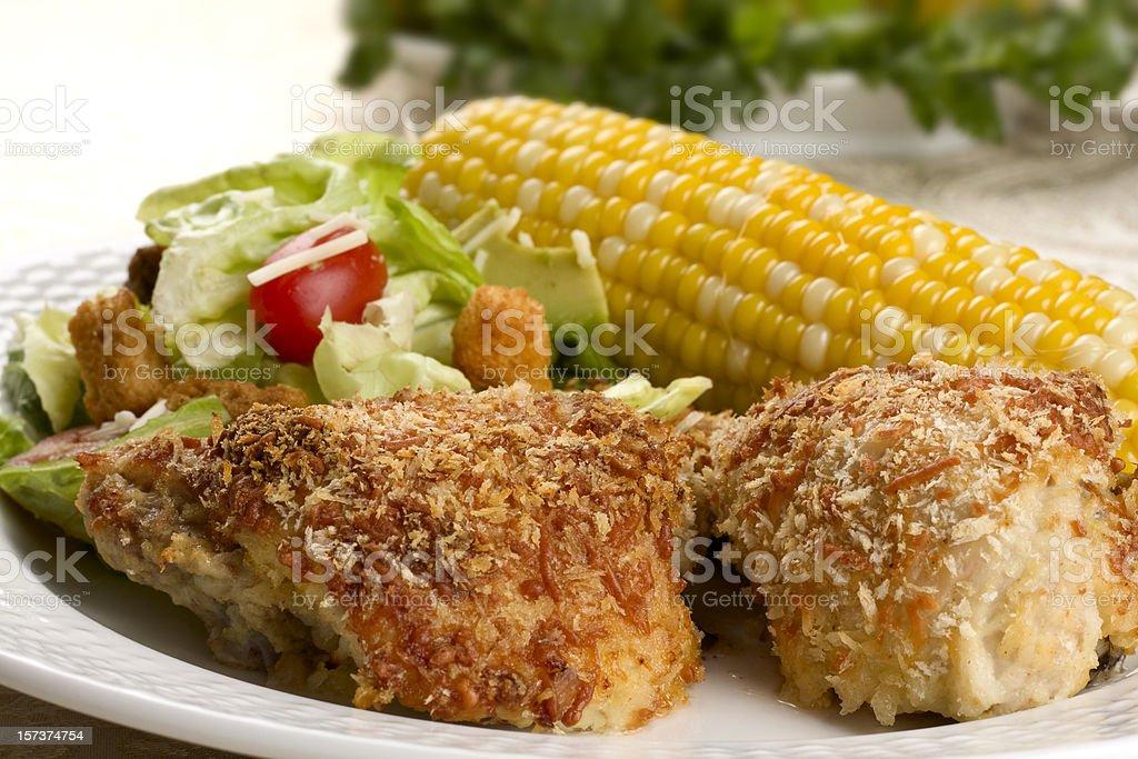Summer Chicken Dinner stock photo