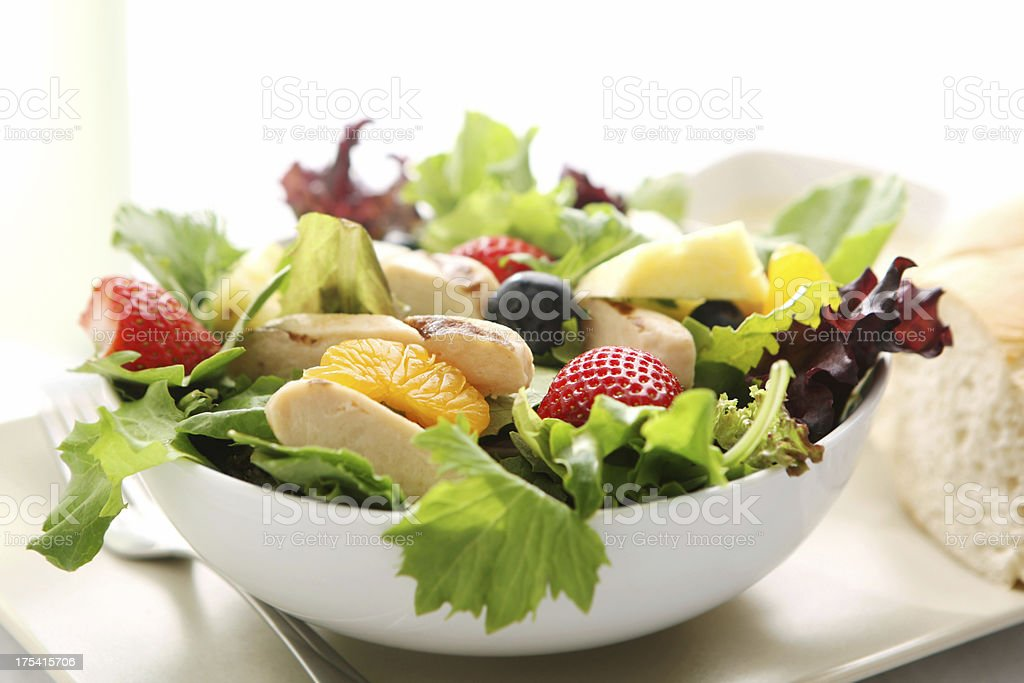 summer chicken salad royalty-free stock photo