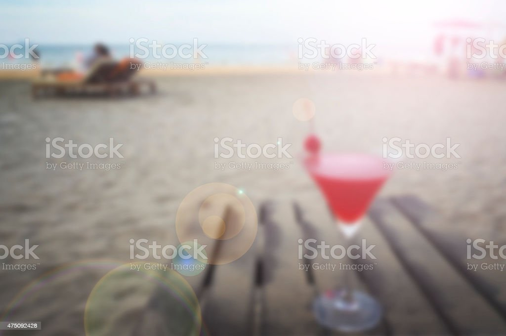 summer chill out background stock photo