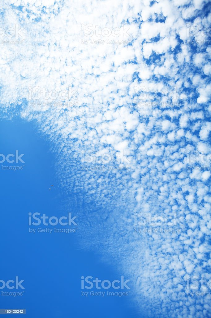Summer cirrocumulus sky stock photo
