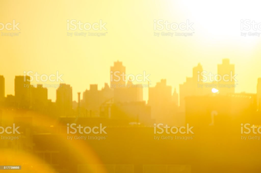 Summer city background stock photo