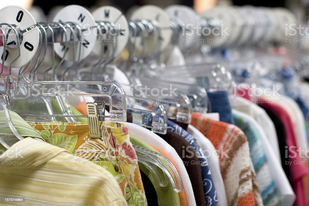Summer Clothing on Rack royalty-free stock photo